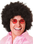 1970's Balck Large Jumbo Curly Afro Wig Pop Star Clown Fancy Dress Accessory New