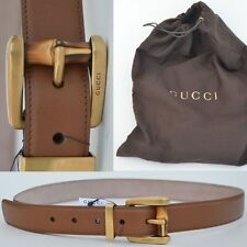GUCCI New sz 85 - 34 Designer Authentic Womens Leather Bamboo Buckle Belt