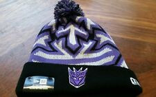 TRANSFORMERS DECEPTICON POM BEANIE GLOWFLAKE GLOW IN THE DARK ((NEW ERA))
