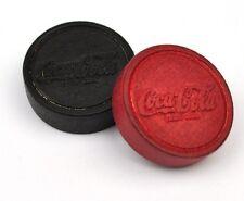 2 Vintage Coca-Cola Coke USA 1945 Spielsteine rot + schwarz Dame Mühle Steine