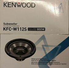 "Kenwood KFC-W112S 800 Watts Single Voice Coil 8 Ohm 12"" Car Subwoofer"
