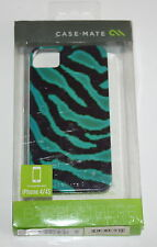 CASE-MATE Barely There Designer Case For Apple iPhone 4 4S Esmerald Zebra - NEW