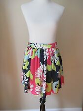 Forever 21 Pleated Above the Knee Length Floral Skirt Sz:M Excellent Condition!