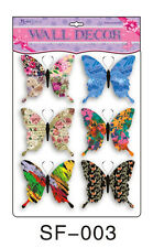 6 Set 3D Papillons Sticker Mural Décoration murale sticker mural Design 3