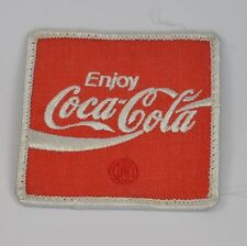 Enjoy Coca Cola Coke Uniform Aufnäher Emblem Patch Bügelflicken USA 1970