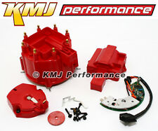 Chevy/GM HEI Red Distributor Cap Rotor & Module Tune Up Kit SBC BBC