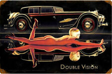 Double Vision / Pin Up Cut Metal Sign Greg Hildebrandt