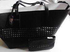 WOMENS BAG Ralph lauren laser cut black leather tote  NEW TAGS ITALY MOTHERS DAY