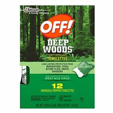 OFF! Deep Woods Insect Repellent Towelettes, 12 Wipes Count each