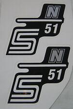 Simson Aufkleber für Seitendeckel S51 N Silber links und rechts