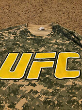 Rare UFC Fight For Troops Camouflage Shirt CAMO Spike TV MMA Gym Muay Thai