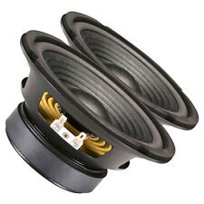 "Pair Goldwood GW-206/8 6-1/2"" OEM Woofer 8 ohms 180 Watts 88 dB 1.5"" Coil"