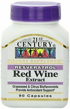 21st Century Resveratrol Red Wine Extract Capsules, 90-Count