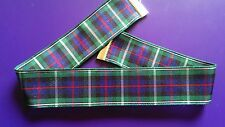 Tartan 25mm ribbon choker necklace vintage silver tone lobster clasp goth 3