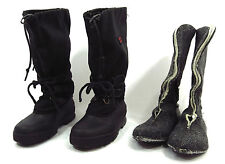 Womens SOREL Boots 6 Black Nylon Rubber Tall Snow Winter Liners Kaufman Canada