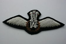 INDIAN INDIA AIR FORCE IAF PILOT'S CLOTH WING COTTON EMBROIDERED