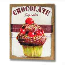 Shabby Chic Vintage Style - Chocolate Cupcake Canvas Picture