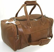 Men's Genuine Real Leather Holdall Travel Cabin Case/ Sports Duffel Gym Bag Gift