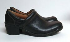 Boc Born Peggy Clogs Black Leather Pebbled Slip On Loafer Women's 6 Shoes C50303