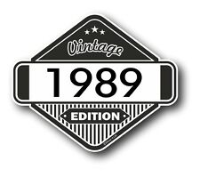 Vintage Edition 1989 Classic Retro Cafe Racer Style Vinyl Motorcycle car sticker