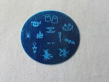 Halloween DIY Manicure Nail Art Stamping Image Plate and Stamper Scraper Kit