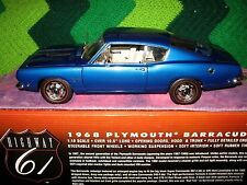 RARE LIMITED EDITION 1968 PLYMOUTH BARRACUDA 340 HIGHWAY 61 1/18