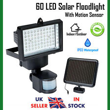 60 LED Solar Floodlight Motion Sensor Security Outdoor Spot Light Cool White