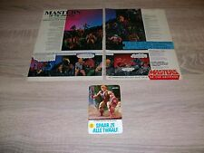 Vintage Masters of the Universe He-Man Dutch advertisement + sticker RARE 1984
