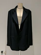 Yohji Yamamoto Homme Men Rare Tailored Jacket Black Wool Silk Gabardine M