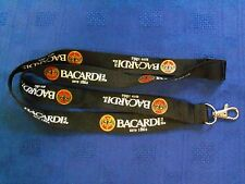 """BUY 1 GET 1 FREE""  ""BACARDI"" BLACK NYLON LANYARD. ""NOW 2 FOR THE PRICE OF 1"""