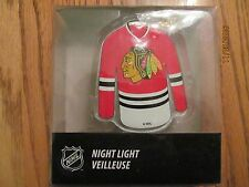 CHICAGO Black Hawks NFL Jersey Glass NIGHT LIGHT~NEW in package