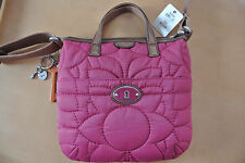 *NWT* Fossil handbag purse cross body quilted 'Key per cbdy Raspberry""