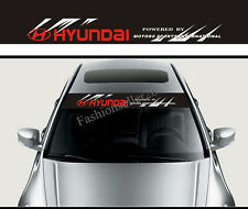 Reflective Front Windshield Banner Decal Car Stickers for Hyundai Auto Modifield