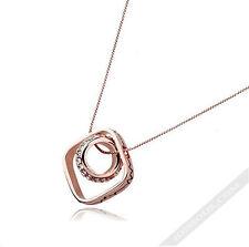 Designer Damen Halskette mit Anhänger Gold Damen Diamant Steine lang LA FERANI