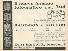W6021 Apparecchi fotografici ZEISS IKON - Pubblicità 1931 - Advertising