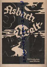 RÜDESHEIM, Werbung 1924, Hugo Asbach Weinbrand Asbach Uralt deutscher Cognac