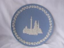 Wedgwood Blue Jasper Plate Christmas 1970 Nelson Column Trafalgar Square London