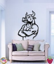 Wall Stickers Vinyl Decal Bull Funny Bodybuilding Sport Crossfit  (z1927)