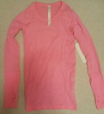 BNWT $78 Lululemon Run: Swiftly Tech LS* Long Sleeve Crew, HNEP pink color, Sz 4