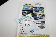 DECALS 1/43 RENAULT CLIO RS JORDAN ELF RALLYE DU ROUERGUE 2001 WRC RALLY