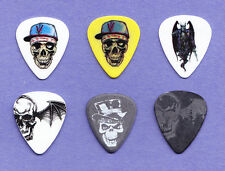 6 Avenged Sevenfold Guitar Pick Collection - 2010/2014 Tours Zacky Vengeance