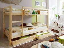 Cameretta bambini, letto a castello, in legno pino naturale
