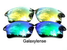 Galaxy Replacement Lenses For Oakley Fast Jacket XL Green&Gold Polarized 2Pairs