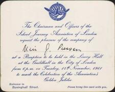 School Journey Association of London. 1961 Guildhall. Livery Hall    QP1885