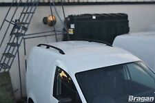 2010 - 2015 VW Volkswagen Caddy Black Aluminium Roof Rails Rack Bars Van Bus