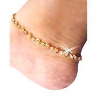 New Fancy Design anklet (payal) in golden color with white stone