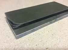 BLACK AND GREY PAPER MICARTA KNIFE HANDLE SCALE BLANKS 1/4""