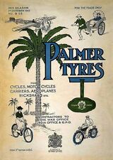 Palmer Tyres Vintage 1912 Cycle Motorcycles Aeroplane Poster Art Print A4