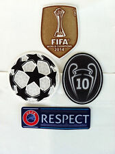 UCL  CHAMPIONS LEAGUE CHAMPIONS 2015 SET OF PATCHES PARCHES BADGE REAL MADRID