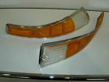 PORSCHE 911 BLINKERGLAS VORNE RECHTS LINKS CHROM INDICATOR LENS FRONT CHROME SET